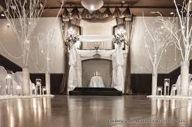 Dramatic Winter Wedding Decor