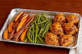 Easy Dinner Recipes BBQ Chicken And Sweet Potato Sheet Pan Dish