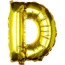 Large Pick And Mix Gold Foil Letter D Balloon Hobbycraft