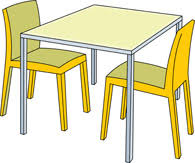 Kitchen Table Clipart Black
