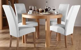 York Round Oak Dining Table And 4 Chairs Set Grange White Room