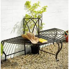 Semi Circle Outdoor Patio Furniture by Chelsea Half Metal Tree Bench Seat The Garden Factory Http Www