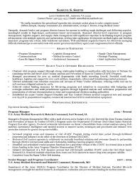 Military Resume Samples Examples