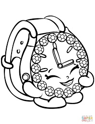 Click The Ticky Tock Watch Shopkin Coloring Pages To View Printable Version Or Color It Online Compatible With IPad And Android Tablets