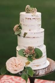 Three Tiered Semi Naked Wedding Cake 2015