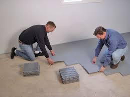 thermaldry basement sub floor tiles installed in carolina