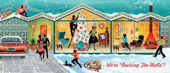 Mid Century Decorating Christmas Party Invitations