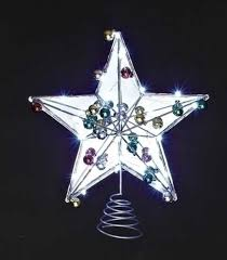 Unlit Christmas Tree Toppers by 15 Led Lighted Battery Operated Mirrored Star Christmas Tree