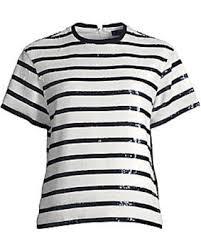 Polo Ralph Lauren Womens Sequins Stripes Top
