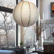 led hängeleuchte mit papierschirm für ihr ess oder wohnzimmer