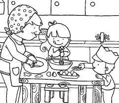 Full Size Of Coloring Pagesamazing Cooking Page With Mom In The Kitchen Pages Large
