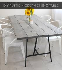 Make It A Rustic Modern DIY Dining Table