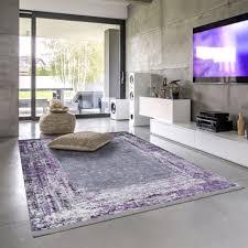 siela waschbare teppich wohnzimmer schlafzimmer küche hochwertig rutschfest versch größen grau