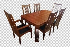 Table Mission Style Furniture Chair Dining Room Matbord PNG Clipart