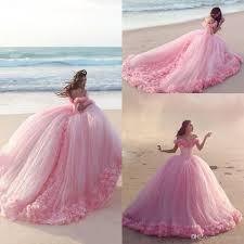 2016 puffy pink quinceanera dresses princess cinderella formal