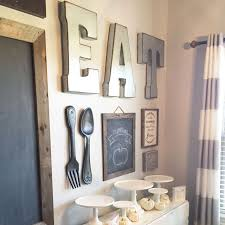 I Love The Chalkboard And Fork Spoon Hanging Wall EAT Letters On Are Perfect For Kitchen Or