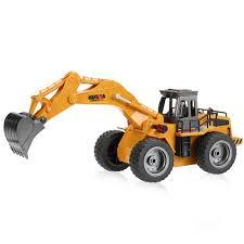100 Mini Rc Truck HUI NA TOYS NO1530 24G 6CH RC Excavator Engineering Vehicle