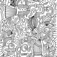 Free Printable Abstract Coloring Pages For Teenagers Difficult Collection Latest