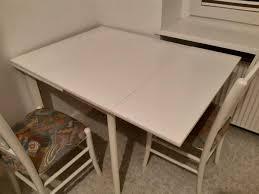 tisch klein ausziehbar stühle holz weiß küche