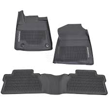 100 Truck Floor Mat OEM Front Rear Black All Weather Set Of 3 For Tundra