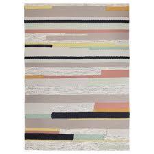 brönden teppich kurzflor handarbeit bunt 170x240 cm ikea
