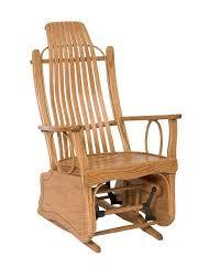 Bent Oak Glider Rocker | Peaceful Valley Amish Furniture