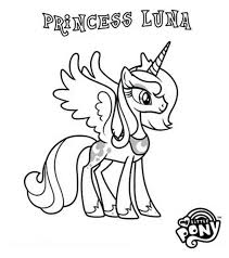 Pony Princess Luna In My Little Coloring Page