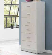 wohnling design highboard raya weiß hochglanz 60x130x30 cm anrichte holz modern
