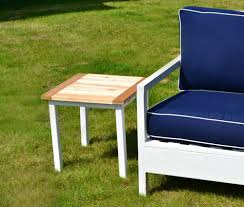 ana white simple white outdoor end table diy projects