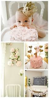 Pink And Gold Birthday Themes by Best 25 Pink First Birthday Ideas On Pinterest First