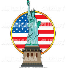 American Flag And Statue Of Liberty Torch Clipart Free