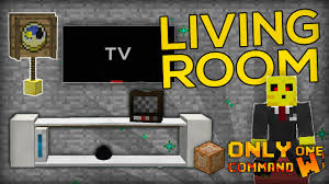 Minecraft Pe Living Room Designs by Living Room Furnitures With Only One Command Block Tv Cushions