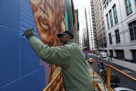Big Ang Mural Unveiling by Photos Kerry James Marshall Mural Unveiled Chicago Tribune