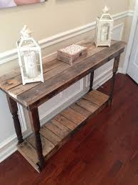 Make A Reclaimed Wood Desk by Best 25 Pallet Entry Table Ideas On Pinterest Diy Sofa Table