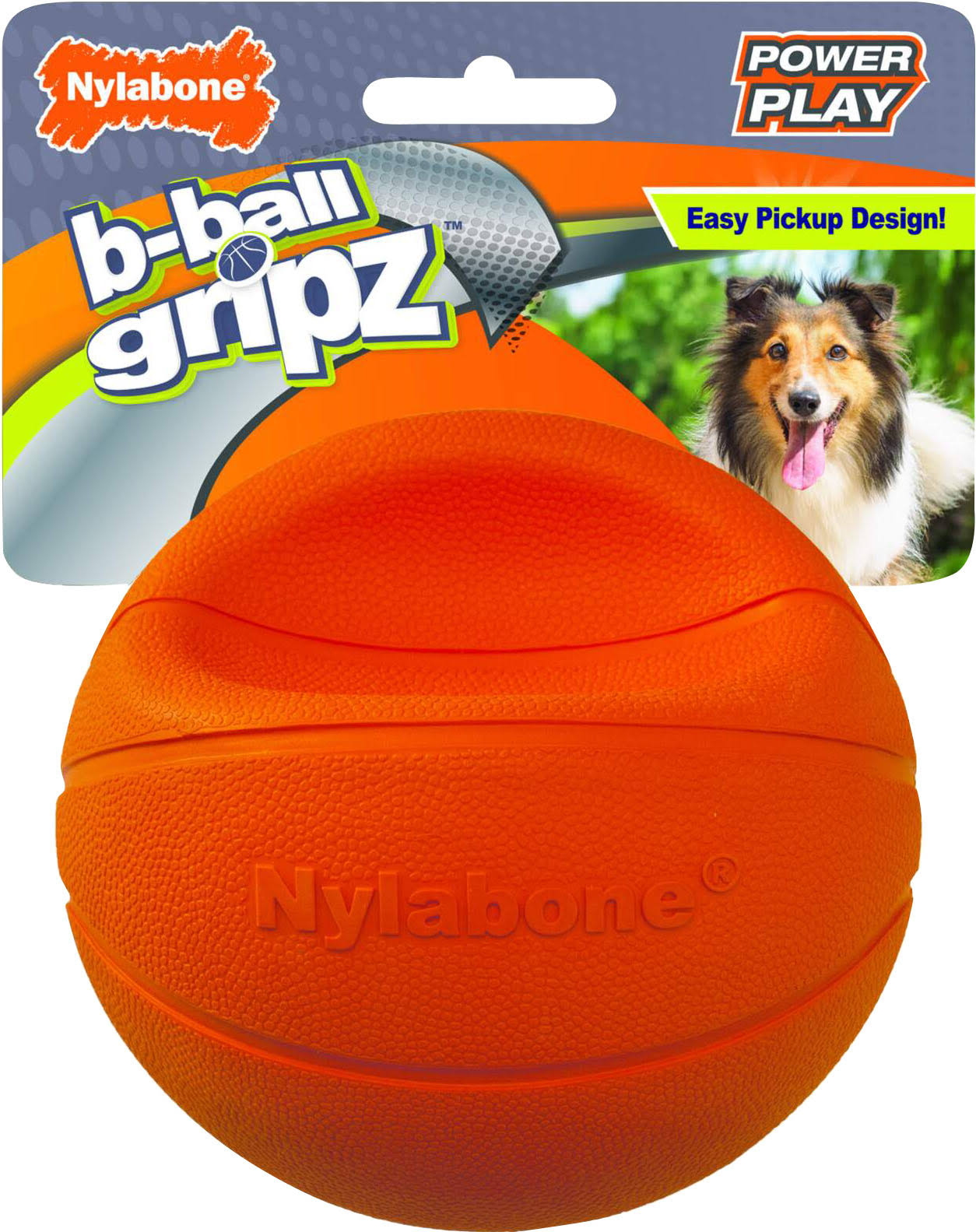 Nylabone Power Play Gripz B-ball Dog Toy