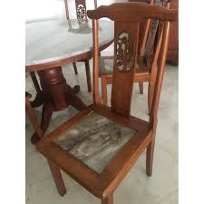 Marble Chinese Dining Table And X5 Chairs, Home & Furniture ... Amazoncom Cjh Nordic Chinese Ding Chair Backrest 66in Rosewood Dragon Motif Table With 8 Chairs China For Room Arms And Leather Serene And Practical 40 Asian Style Rooms Whosale Pool Fniture Sun Lounger Outdoor Chinese Ding Table Lazy Susan Macau Lifestyle Modernistic Hotel Luxury Wedding Photos Rosewood Set Firstframe Pure Solid Wood Bone Fork