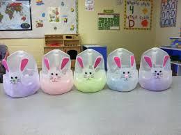 Easter Baskets My Toddlers Made In Preschool Out Of Milk Jugs We Regarding Basket