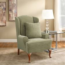 Grey Wingback Chair Slipcovers by Wingback Chair Slipcover For Comfortable Seating Homesfeed