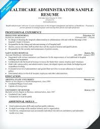Resume Objective Examples Hospital Administrator