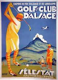 Antique French Poster Golf Club DAlsace