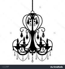 Simple Chandelier Silhouette Illuminate Life