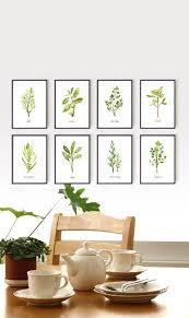Watercolor Herb Print Set Of 8