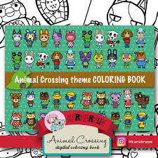 Animal Crossing Theme Coloring Book CB ACNL001