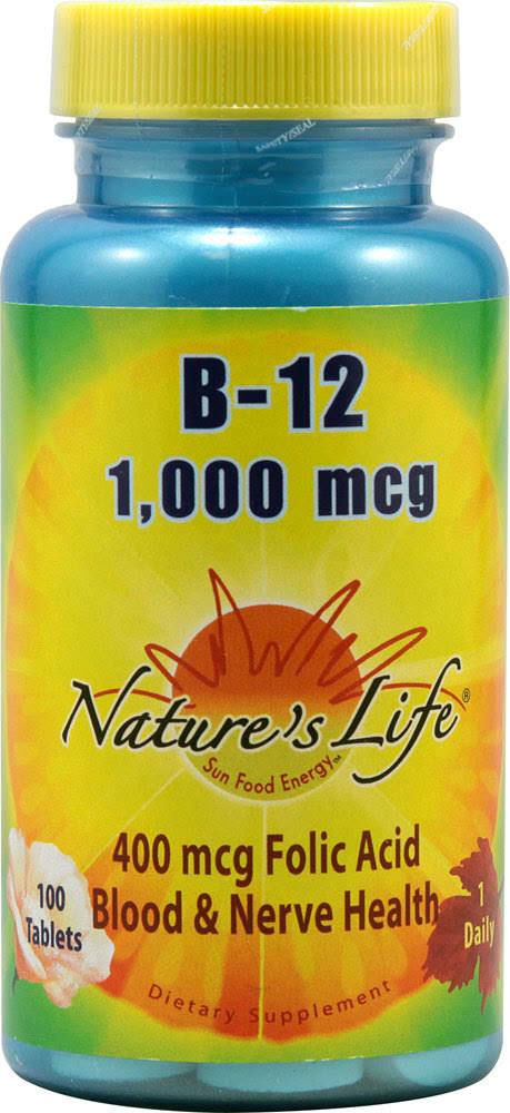 Nature's Life Vitamin B-12 1000 mcg - 100 Tablets