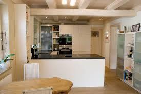 offene küche in weiß matte fronten