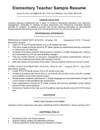 Sample Teaching Resume Ontario Elementary Teacher Writing Tips Companion Download