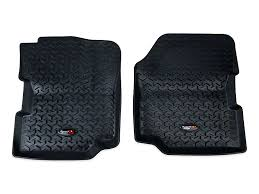 Rugged Ridge Floor Liners by Rugged Ridge Wrangler All Terrain Front Floor Liners Black