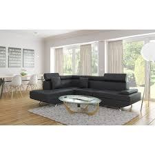 canape cuir angle gauche scoop canapé d angle gauche 4 places cuir et simili noir l 178