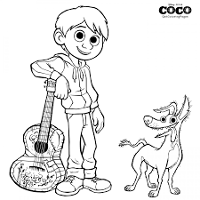 Dante And Miguel Coco Coloring Page Disney Coco Printables