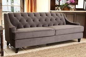 Transitional Living Room Leather Sofa by Furniture Tufted Couches For Your Living Room Decor Idea